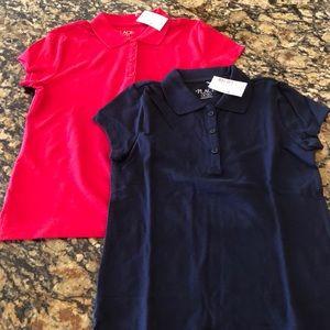 NWT Children's Place Girls Uniform Polos